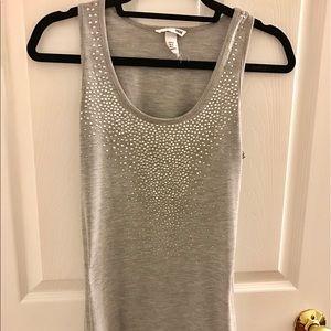 H&M gray sparkle tank top